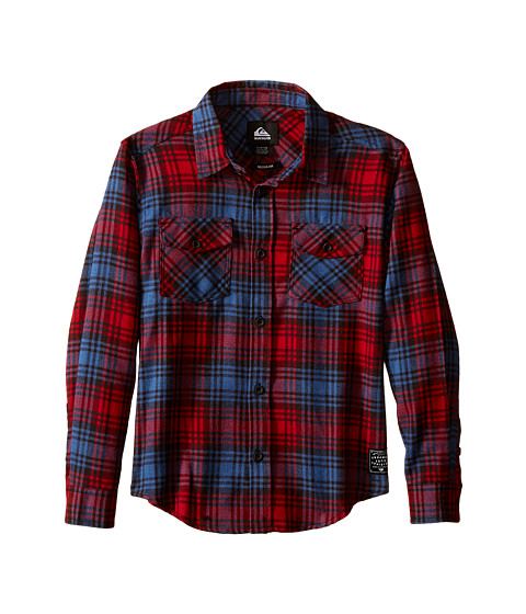 Quiksilver Kids - Everyday Flannel Shirt (Big Kids) (American Beauty) Boy's Long Sleeve Button Up