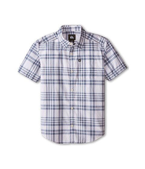 Quiksilver Kids - Pat Pack Shirt (Big Kids) (Flintstone) Boy's Short Sleeve Button Up