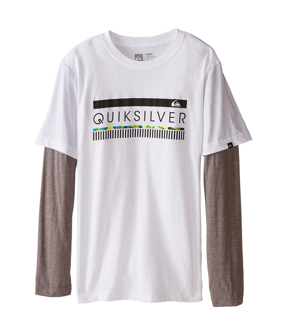 Quiksilver Kids - In The Zone Top (Big Kids) (White) Boy's T Shirt