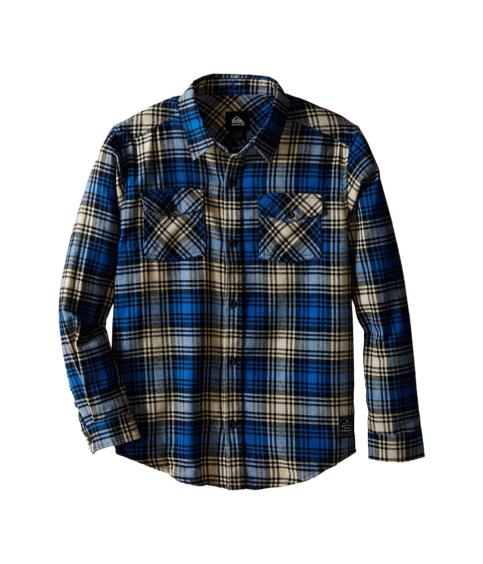 Quiksilver Kids - Everyday Flannel Shirt (Big Kids) (Victoria Blue) Boy
