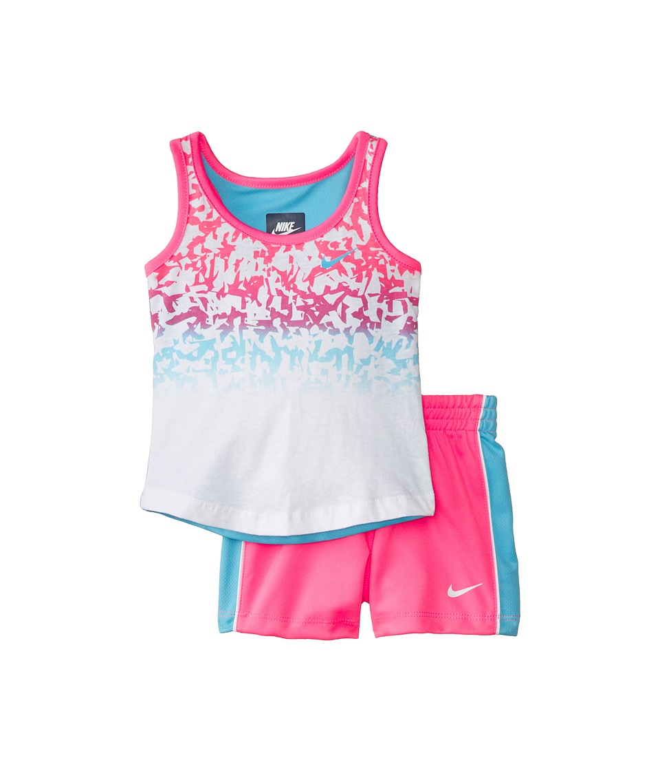 Nike Kids - Confetti Tank Top and Shorts Set (Toddler) (Pink Pow) Girl