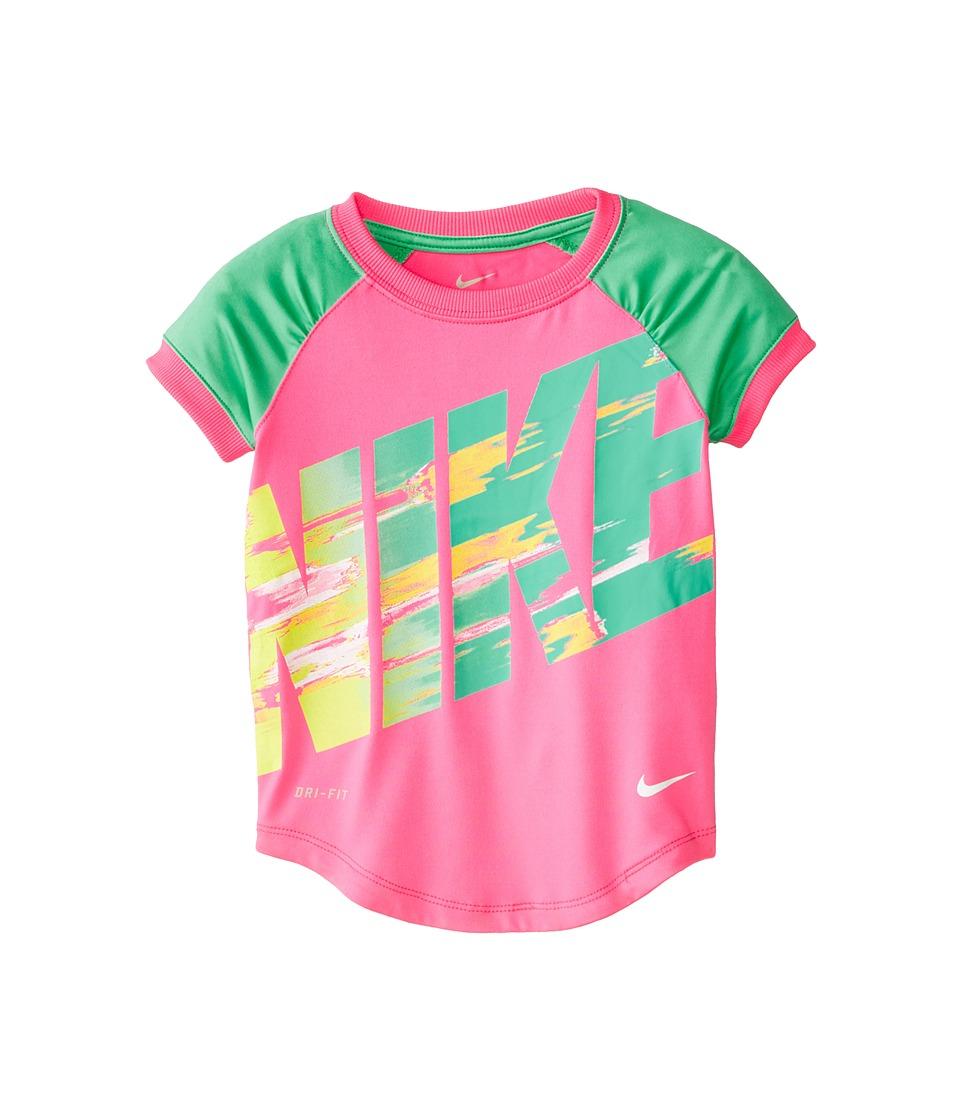 Nike Kids - Dri Fit Sport Essentials Raglan Short Sleeve Top (Toddler) (Pink Pow) Girl