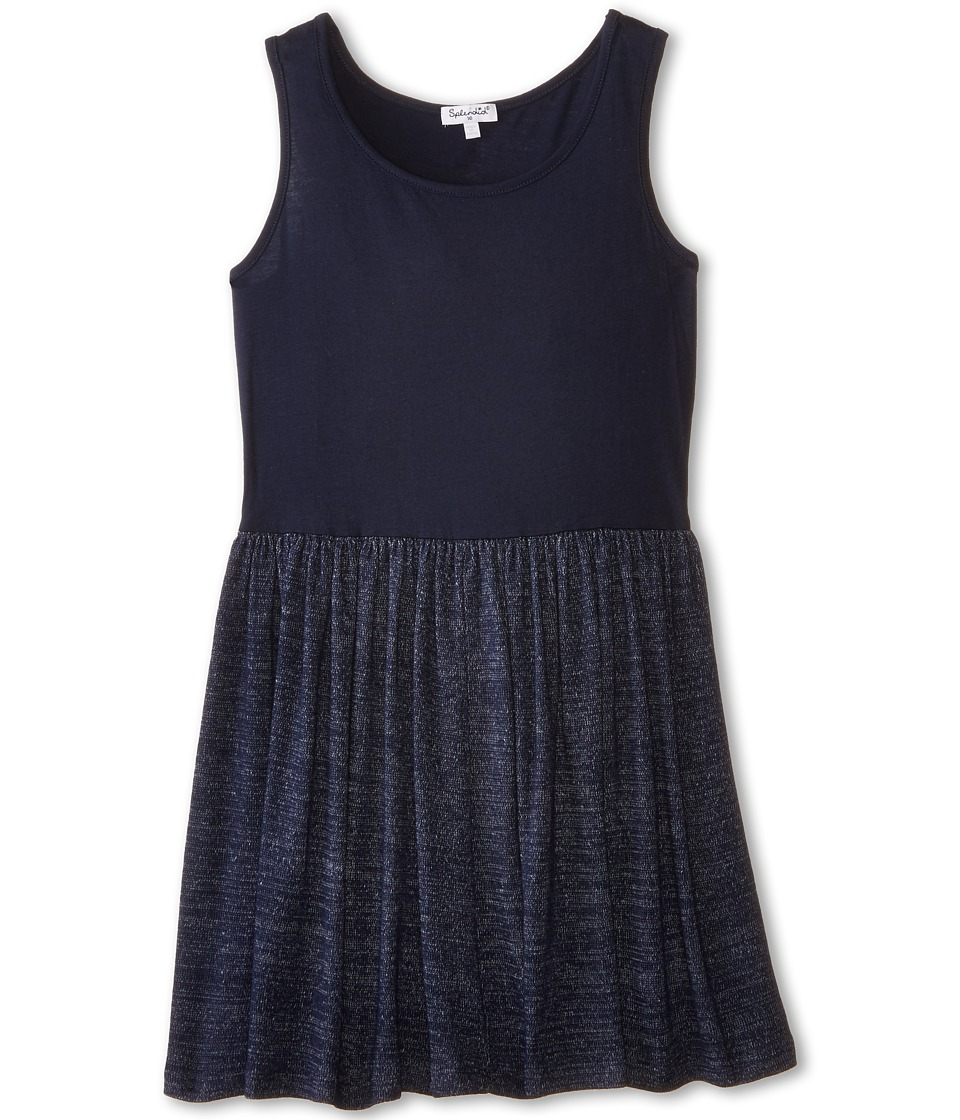 Splendid Littles - Loose Knit Jersey Dress (Big Kids) (Navy) Girl's Dress