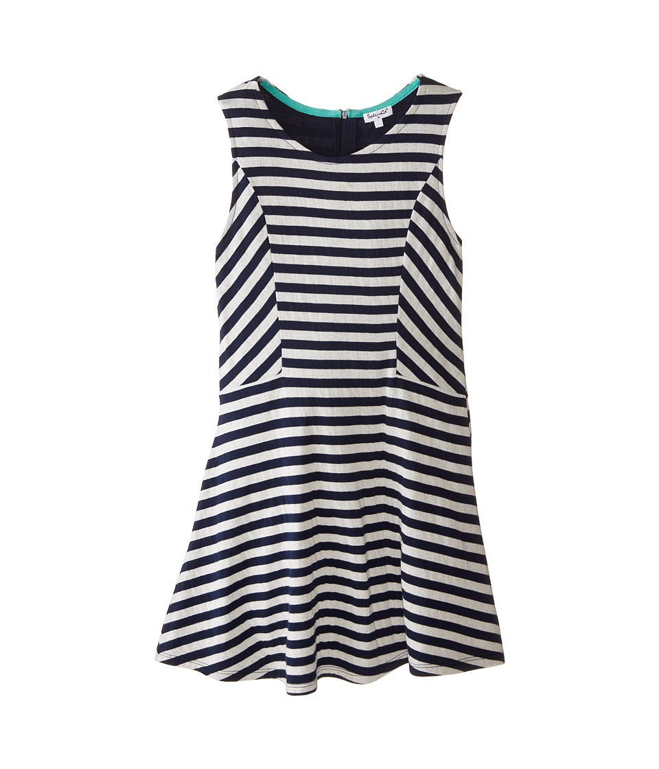 Splendid Littles - Fashion Stripe Dress (Big Kids) (Navy) Girl's Dress