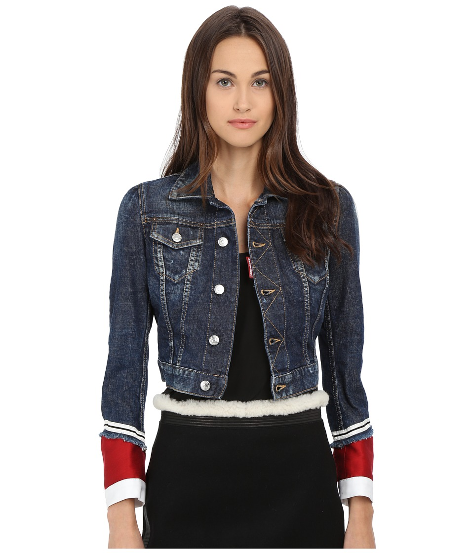 DSQUARED2 - Lord Denim Jacket (Blue) Women's Jacket