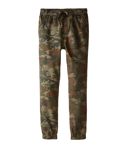Quiksilver Kids - Fonz Camo Pants (Big Kids) (Dusty Olive) Boy's Casual Pants