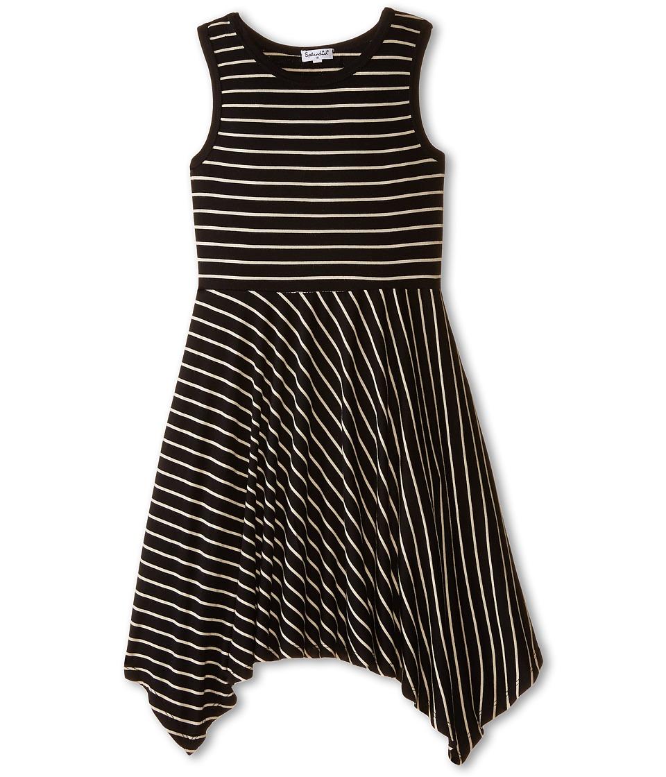Splendid Littles - Fashion Stripe Dress (Big Kids) (Black) Girl's Dress