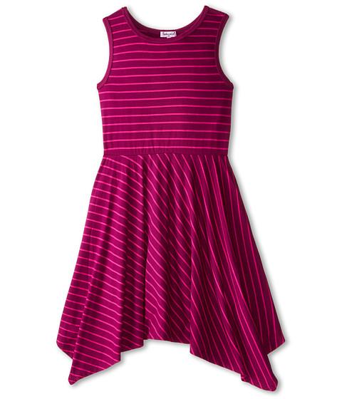 Splendid Littles - Fashion Stripe Dress (Big Kids) (Plum) Girl's Dress