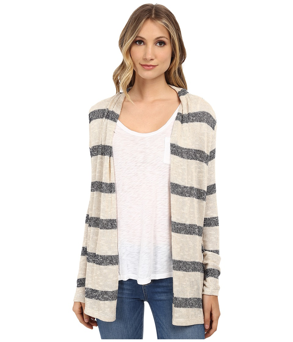 Three Dots - Long Sleeve Cardy (Caribbean Sand/Nir) Women's Sweater