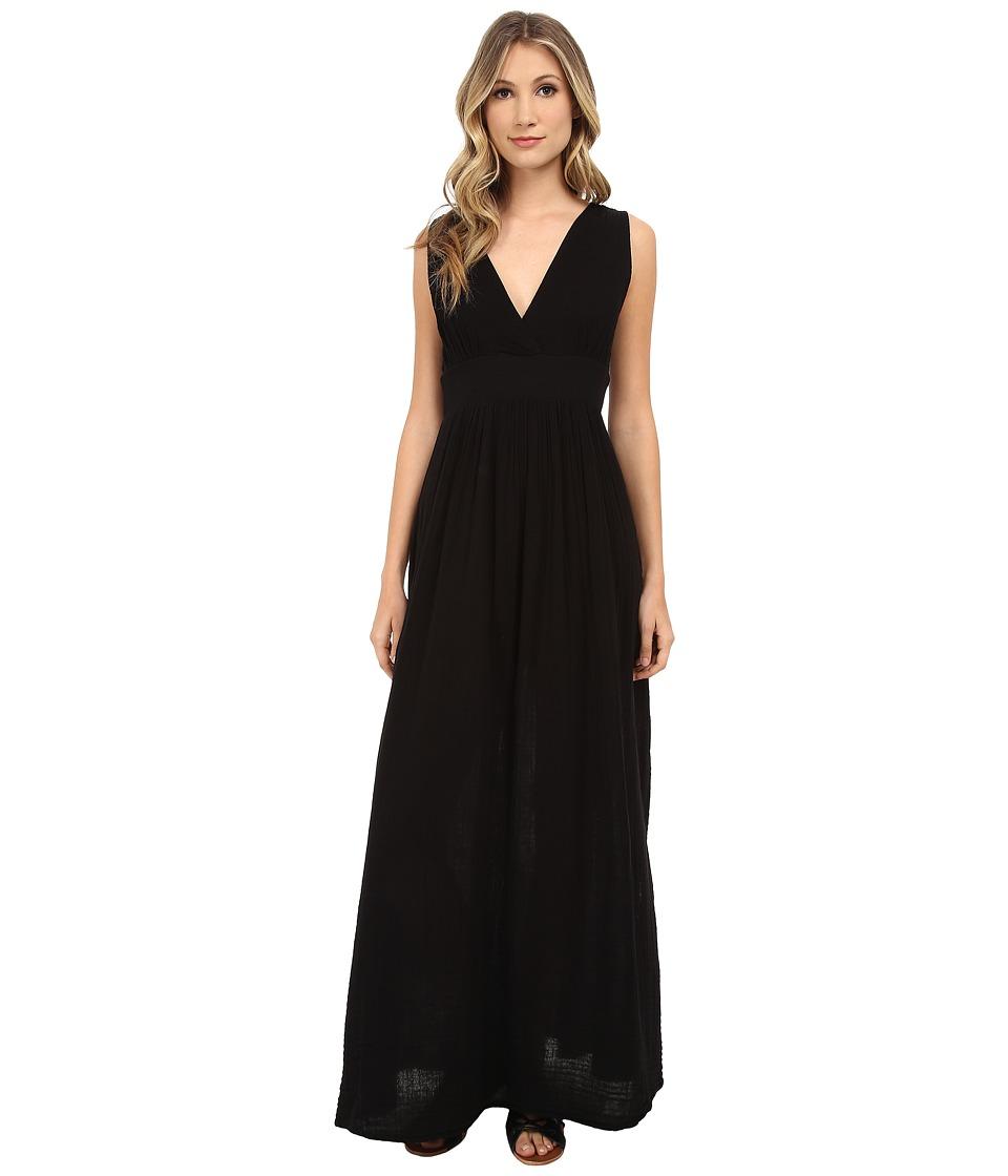 Three Dots - Maxi Dress w/ Side Vent (Black) Women's Dress