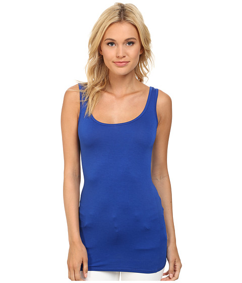 Three Dots - Lightweight Viscose Long Fitted Tank (Surf Blue) Women's Sleeveless