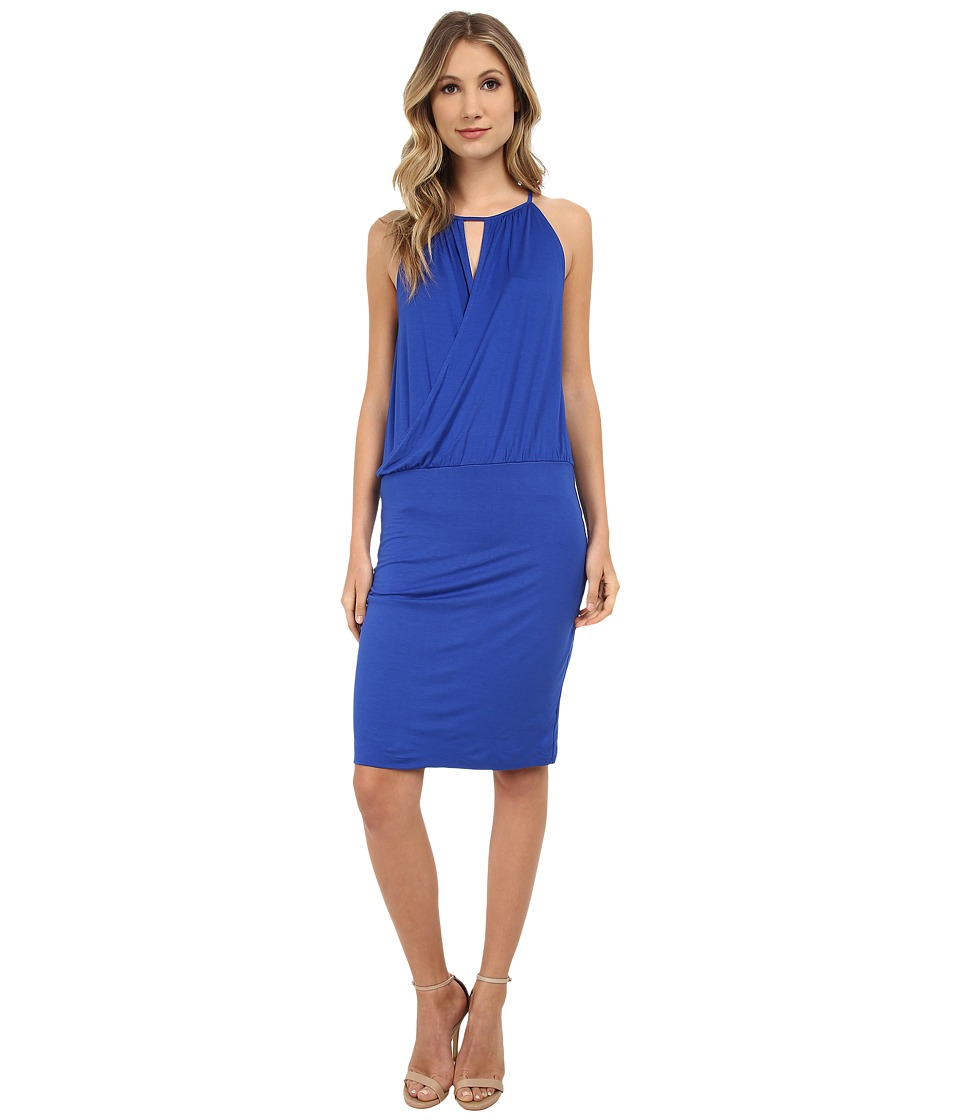 Three Dots Wrap Dress (Surf Blue) Women