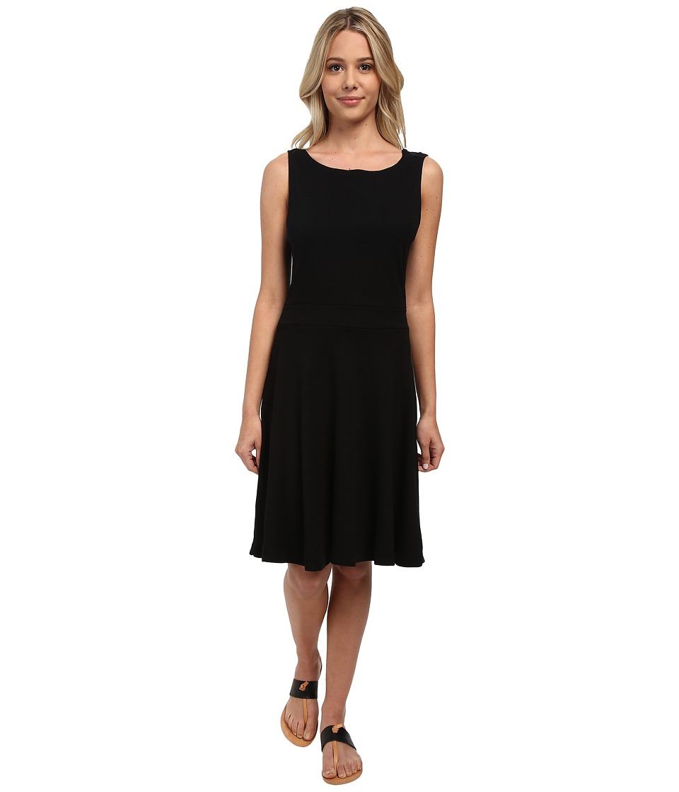 Three Dots - Flare Cowl Back Dress (Black) Women's Dress