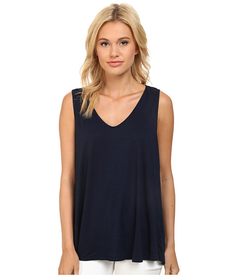 Three Dots - Fit Flare Sleeveless Top (Night Iris) Women
