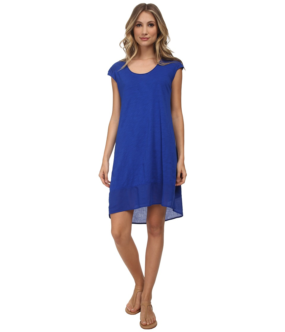 Three Dots - High-Low Dress (Surf Blue) Women