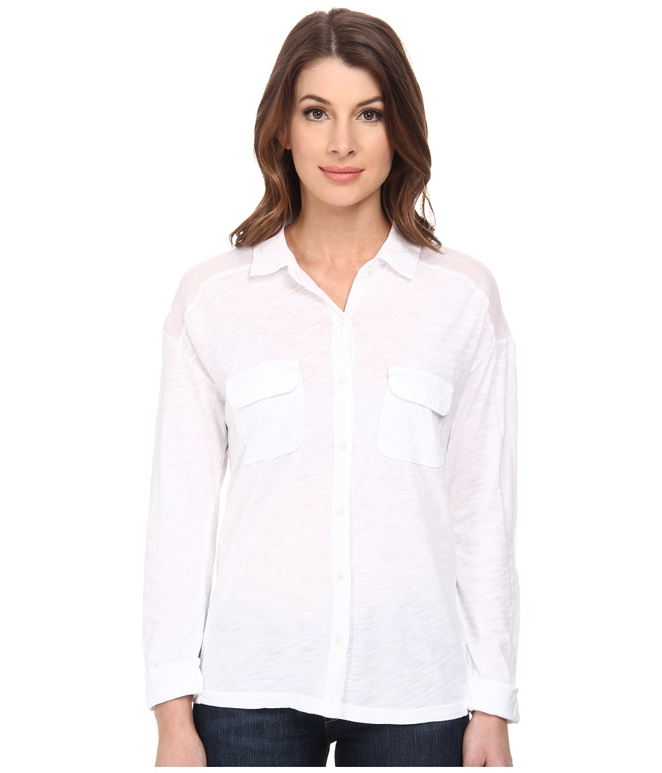 Three Dots - Long Sleeve Shirt (White 1) Women's Clothing