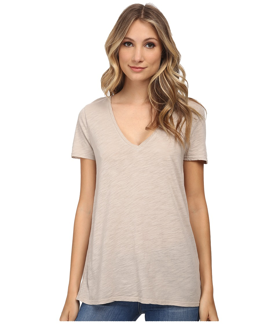 Three Dots - V-Neck SR1152 (Caribbean Sand) Women's Clothing