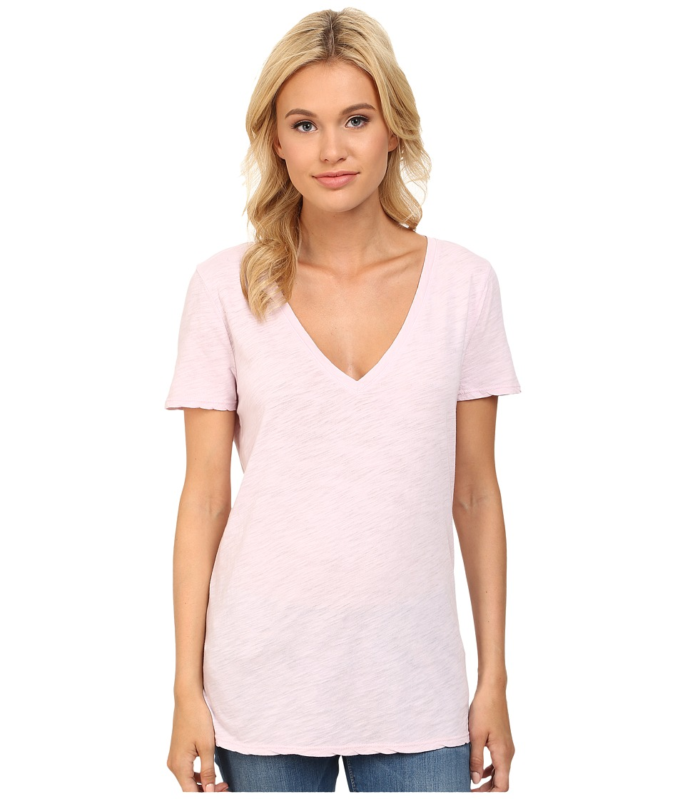 Three Dots - V-Neck SR1152 (Pink Spritz) Women's Clothing
