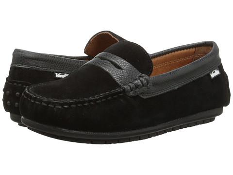 Venettini Kids - 55-Savor (Toddler/Little Kid/Big Kid) (Black Suede/Black Rock Leather) Boys Shoes