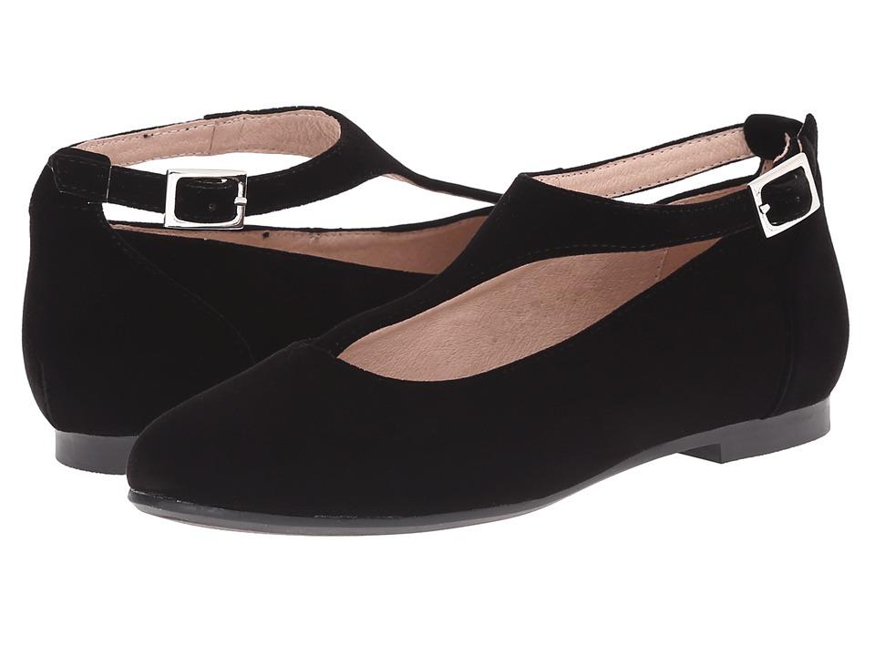 Venettini Kids - 55-Francis (Little Kid/Big Kid) (Black Velvet) Girls Shoes