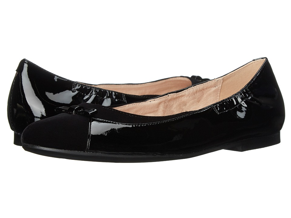 Venettini Kids - 55-Gale (Little Kid/Big Kid) (Black Velvet/Black Patent) Girls Shoes