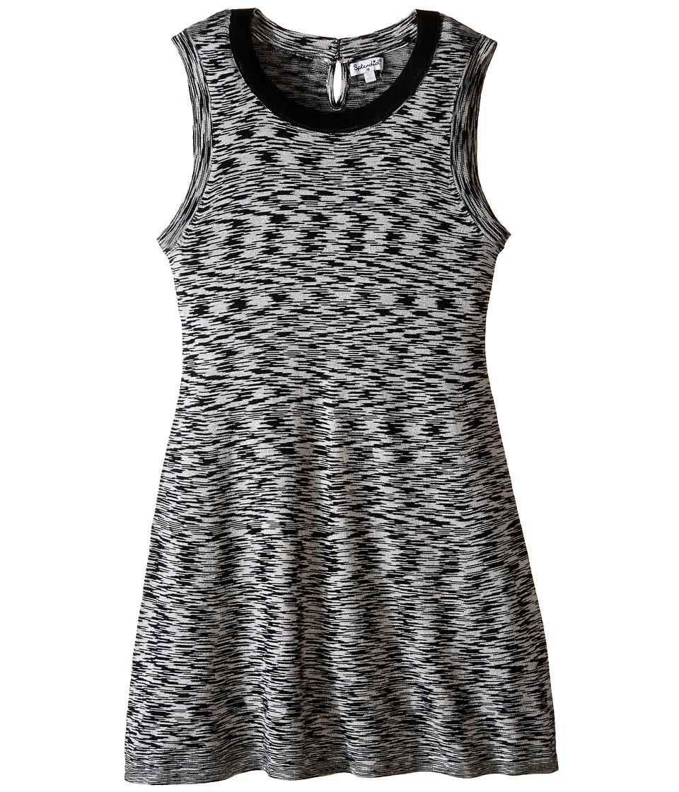Splendid Littles - Space Dyed Dress (Big Kids) (Black) Girl's Dress