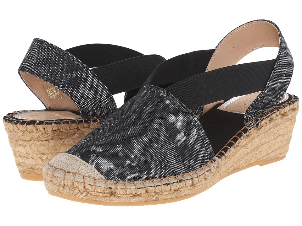 Vidorreta Luna (Black Metallic Leopard) Women