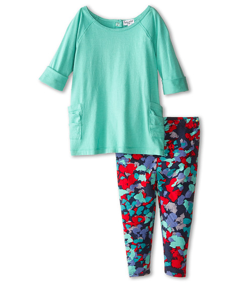Splendid Littles - Classic Knit Print Pants Set (Infant) (Turquoise) Girl's Active Sets