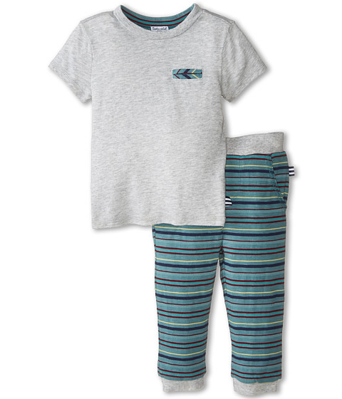 Splendid Littles - Classic Stripe Pants Set (Infant) (Grey Heather) Boy's Active Sets