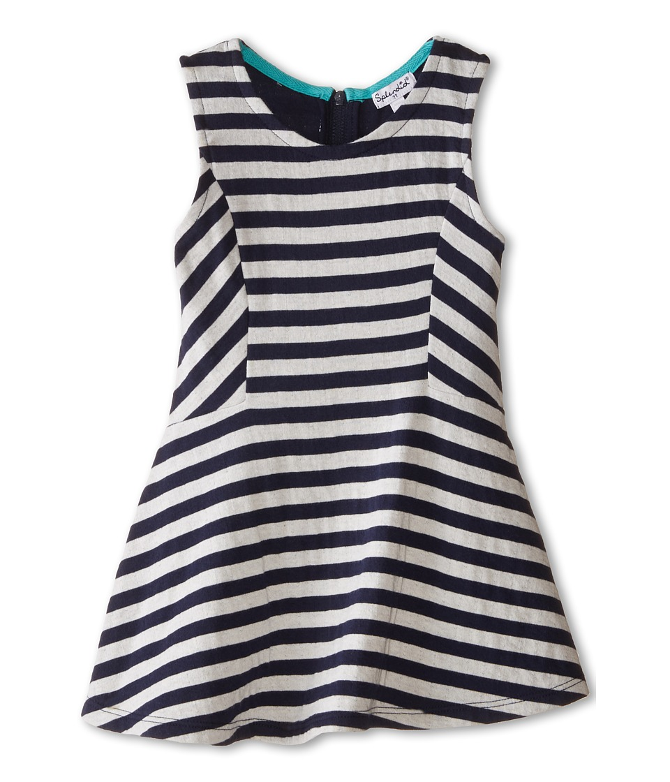 Splendid Littles - Fashion Stripe Dress (Toddler) (Navy) Girl's Dress