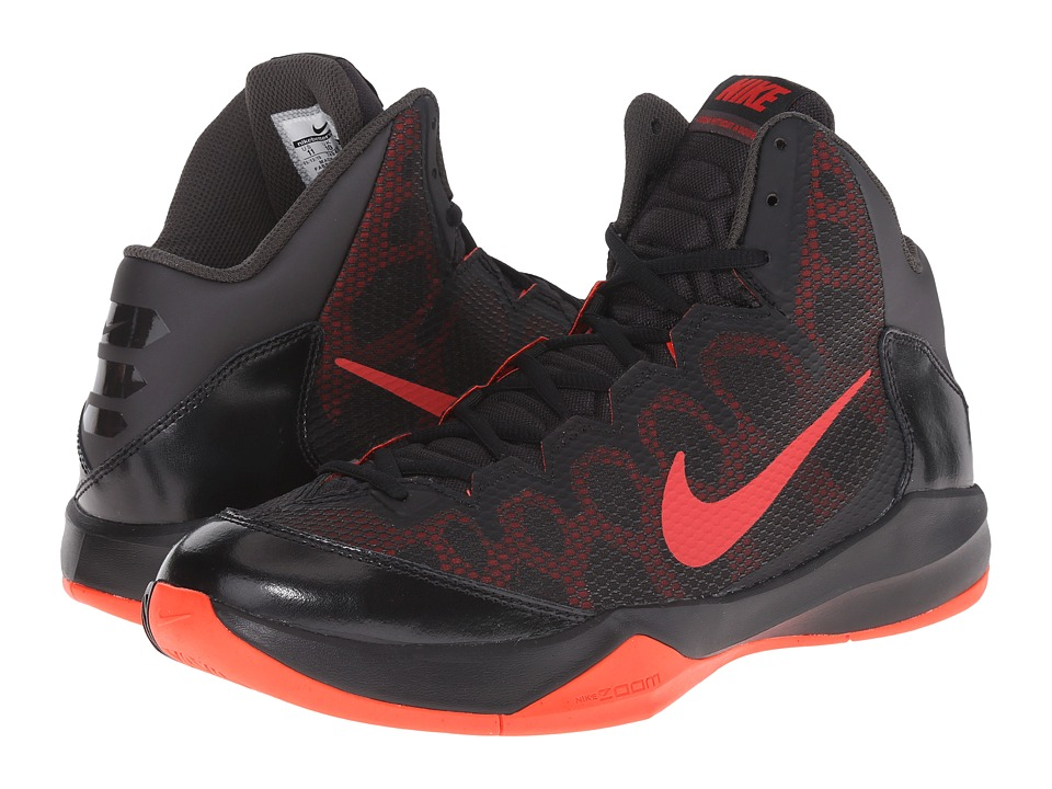 Nike - Zoom Without A Doubt (Deep Pewter/Black/Bright Crimson/University Red) Men's Basketball Shoes