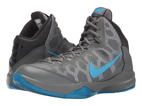 Nike - Zoom Without A Doubt (Deep Pewter/Tumbled Grey/Tide Pool Blue/Blue Lagoon) Men's Basketball Shoes