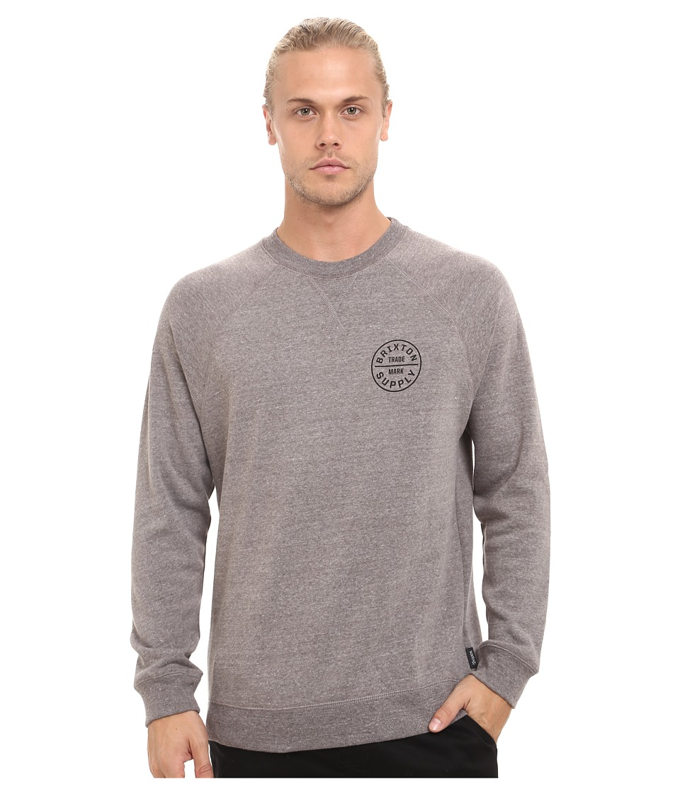 Brixton - Oath Crew Fleece (Heather Grey/Black) Men's Fleece
