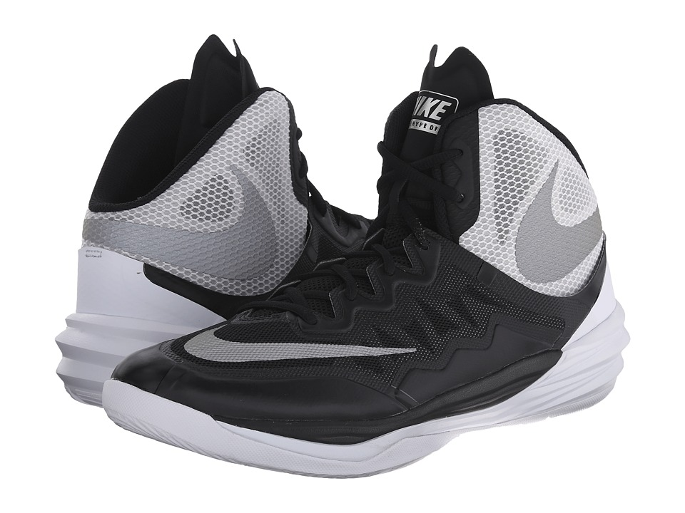 Nike - Prime Hype DF II (Black/White/FLT Silver/Reflect Silver) Men