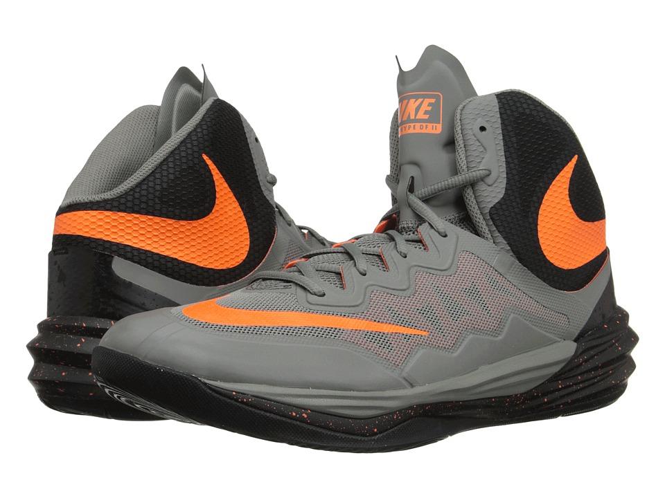 Nike - Prime Hype DF II (Tumbled Grey/Black/Bright Citrus) Men