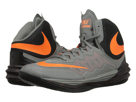 Nike - Prime Hype DF II (Tumbled Grey/Black/Bright Citrus) Men's Basketball Shoes