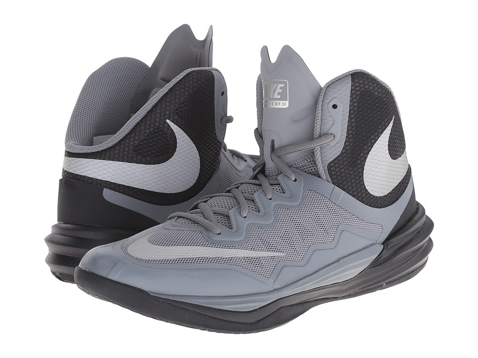 Nike - Prime Hype DF II (Cool Grey/Black/Metallic Silver/Reflect Silver) Men's Basketball Shoes