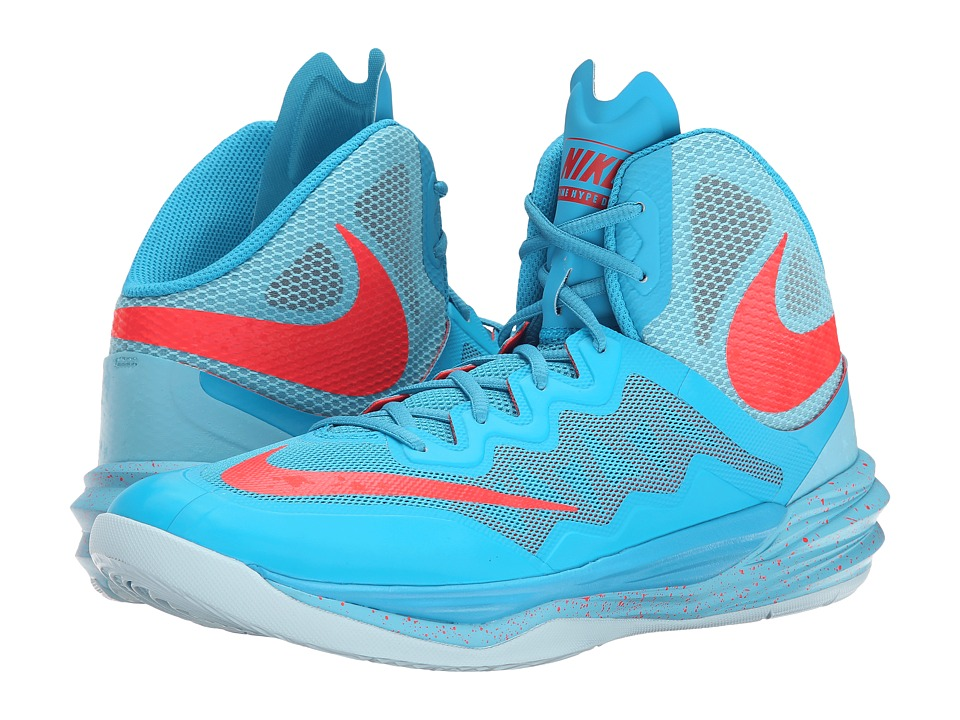 Nike - Prime Hype DF II (Blue Lagoon/Tide Pool Blue/Ice Cube Blue/Bright Crimson) Men's Basketball Shoes