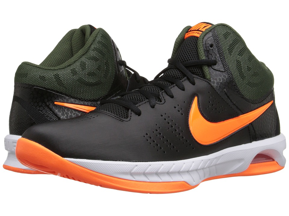 Nike - Air Visi Pro VI (Black/Carbon Green/White/Bright Citrus) Men's Basketball Shoes