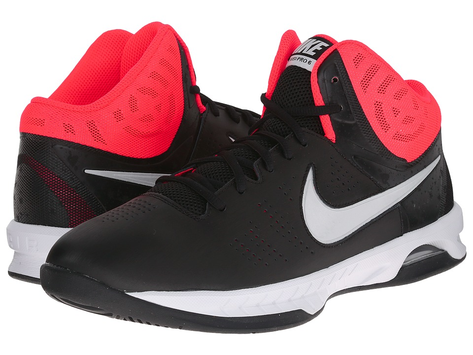 Nike - Air Visi Pro VI (Black/Bright Crimson/University Red/Metallic Platinum) Men