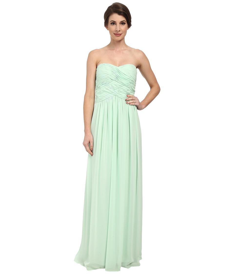 Donna Morgan - Audrey Long Strapless Chiffon Dress (Candy Apple) Women's Dress