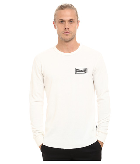 Brixton - Fuel Long Sleeve Thermal (Cream) Men's Long Sleeve Pullover