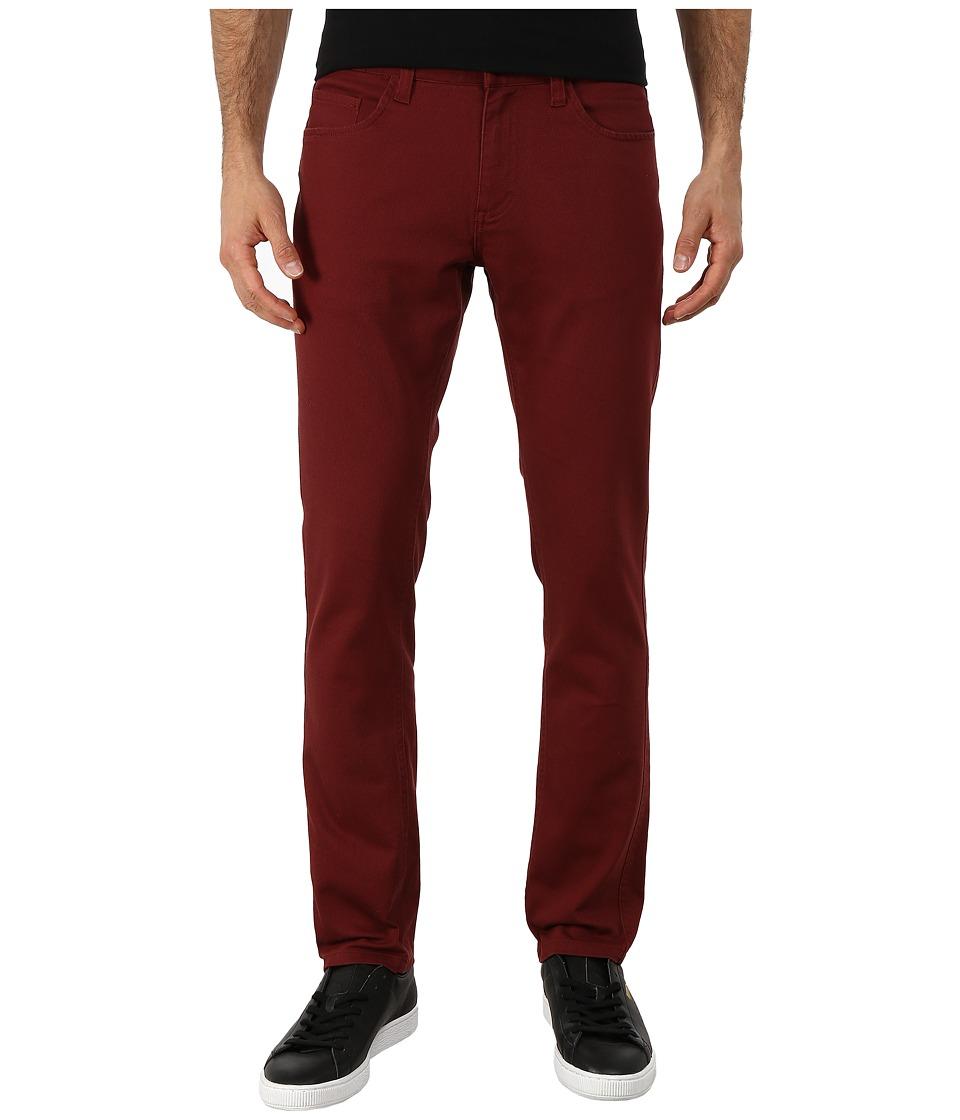 Brixton - Grain Five-Pocket Pants (Burgundy) Men's Casual Pants