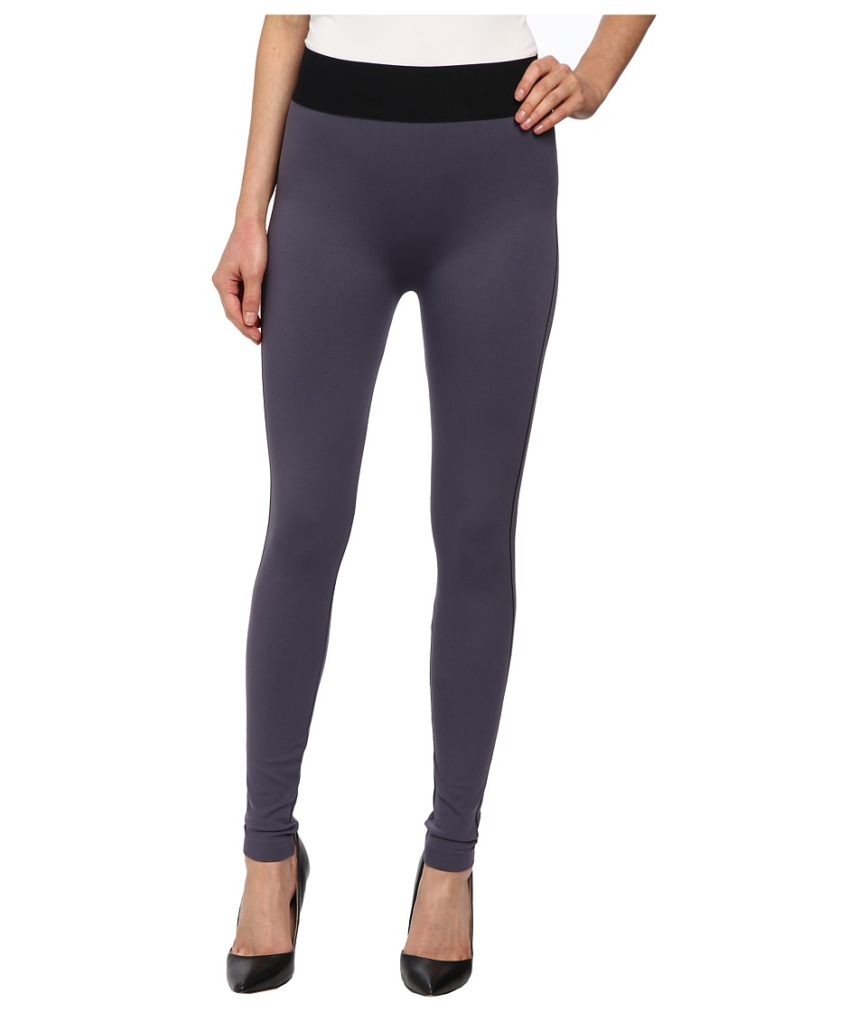 Wolford - Lara Leggings (Monument/Black) Women's Clothing