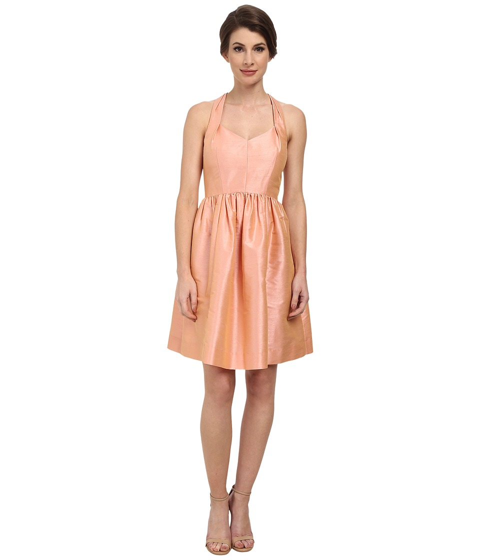 Donna Morgan - Trish Halter Neck Shantung Dress (Salmon Rose) Women's Dress