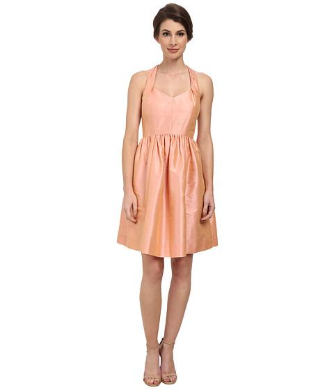 Donna Morgan - Trish Halter Neck Shantung Dress (Salmon Rose) Women