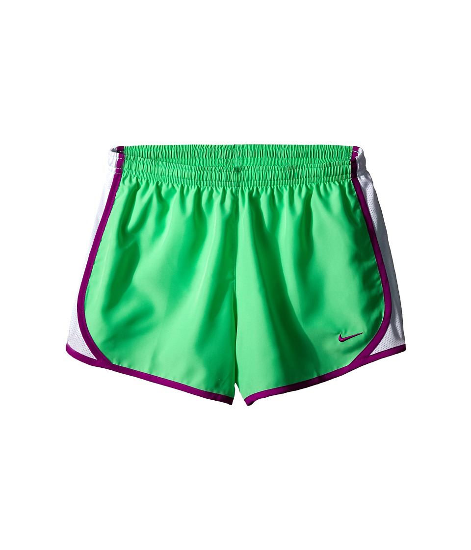 Nike Kids - Tempo Short (Little Kids/Big Kids) (Electro Green/White/Vivid Purple) Girl