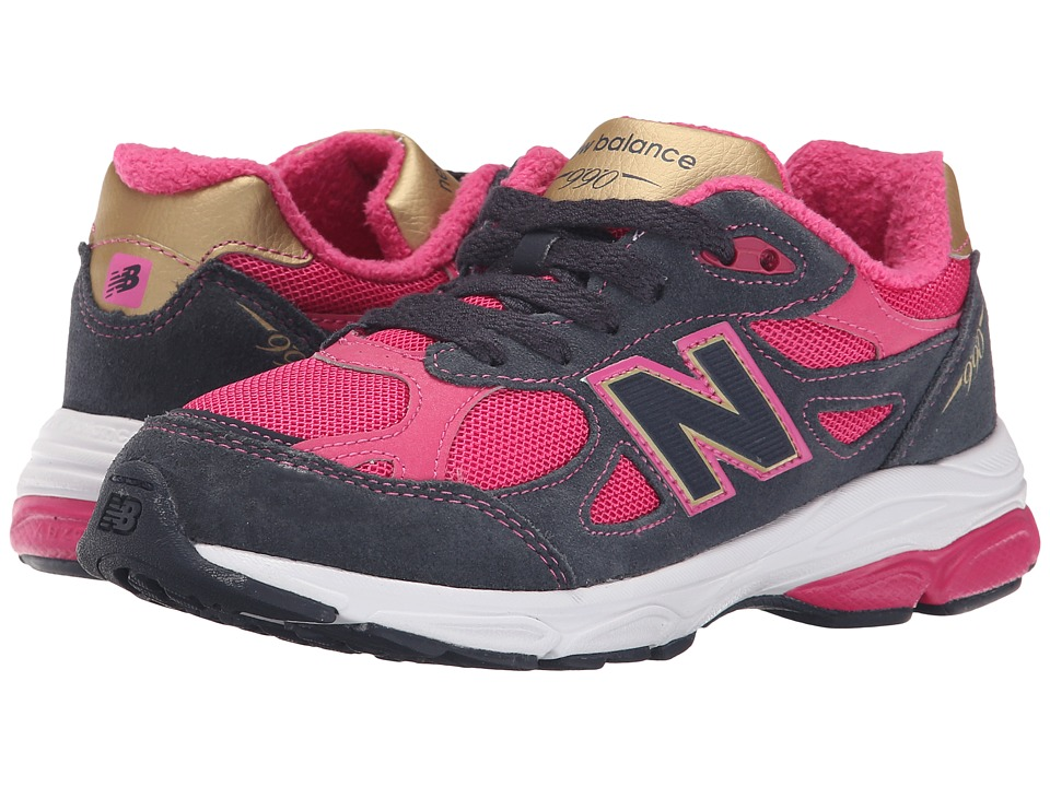 New Balance Kids - 990v3 (Big Kid) (Pink/Grey) Girls Shoes