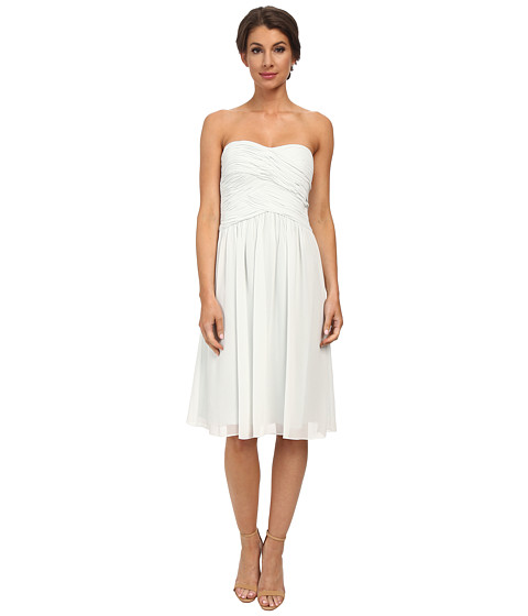 Donna Morgan - Anne Short Strapless Chiffon Dress (Hint of Mint) Women