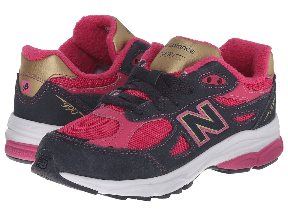 New Balance Kids - 990v3 (Little Kid) (Pink/Grey) Girls Shoes